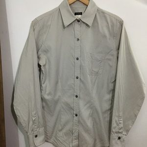 J. Crew Grey Button Down Top S